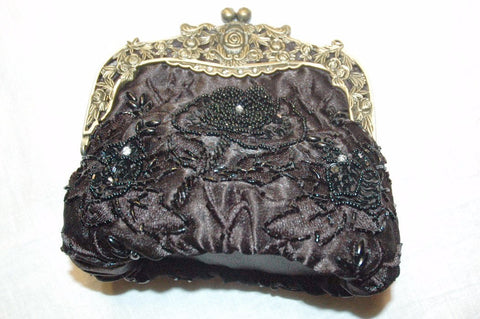 black evening bag sequin