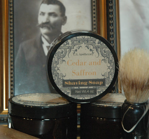 CSA-201 - Cedar and Saffron Shaving Soap