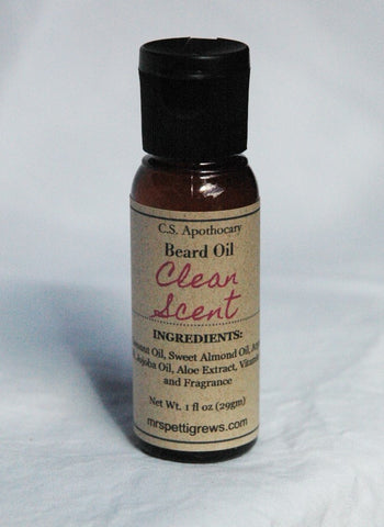 CSA-300 - Clean Scent Beard Oil