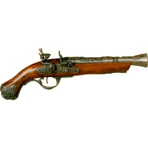 FD-1219G - 18th Century British Flintlock Blunderbuss - Pewter