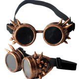 steampunk spiked goggles-brass