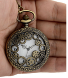 pocket watch with geared watch cover