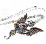A dragon necklace influnced by steampunk