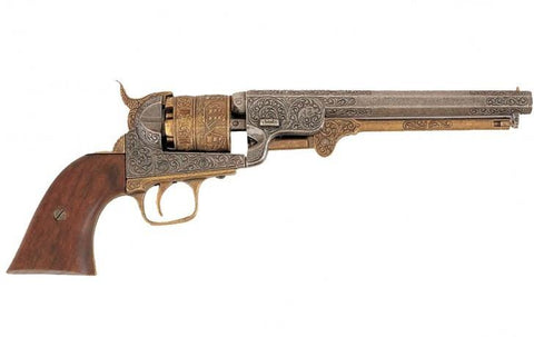 FD-1040L- 1851 Engraved Navy Revolver - Brass