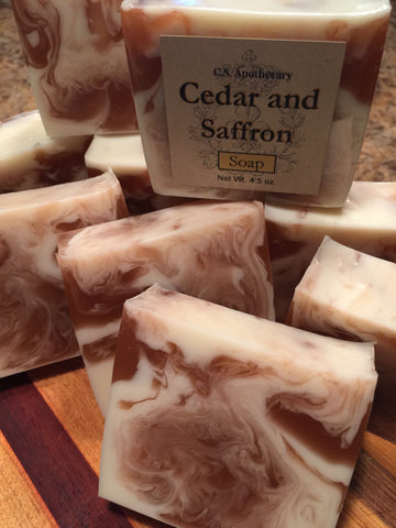 CSA-202- Cedar and Saffron Soap