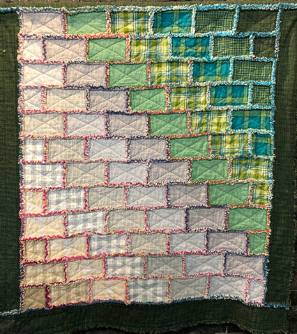 Quilt #6: Stronghold (a rag quilt!)