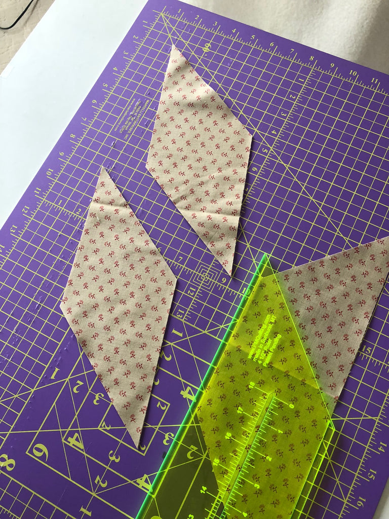 Cutting Diamonds Tutorial - Using Strip Cutting Rulers
