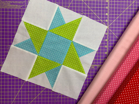 star variation judys star pattern free quilt block tutorial