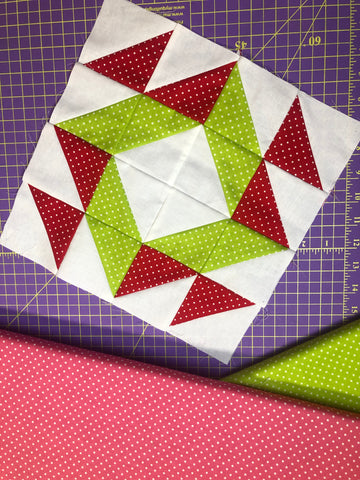 peppermint wheel block free pattern quilt along beginner blocks quilting