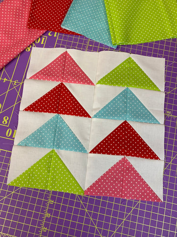 flying geese block quick quilt block easy