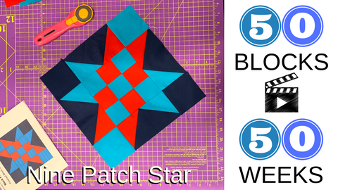 nine patch star block
