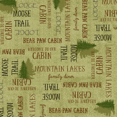 MOOSE TRAIL LODGE LODGE LINGO - LIGHT GREEN