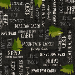 MOOSE TRAIL LODGE LODGE LINGO - BLACK