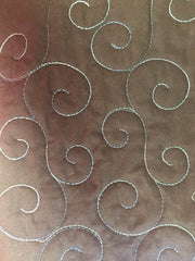 swirl domestic quilting template for 12 inch foot