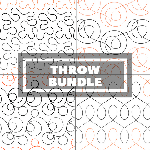 Tear Away Designs Starter Bundle (Four Throw Size Quilts)