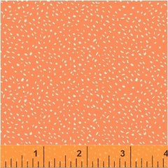 Sweet Floral - by Another Point of View - Scattered Dot Coral