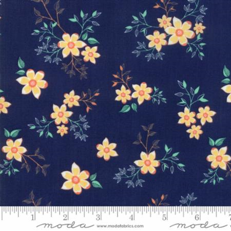 Woodland Secrets Nightfall - Vine Dark Blue - Moda