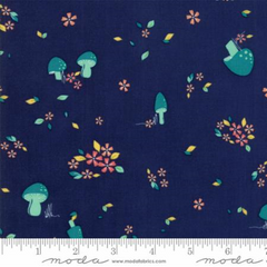 Woodland Secrets Nightfall - Field Dark Blue - Moda