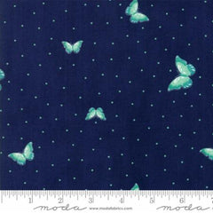 Woodland Secrets Nightfall - Flutter Dark Blue - Moda