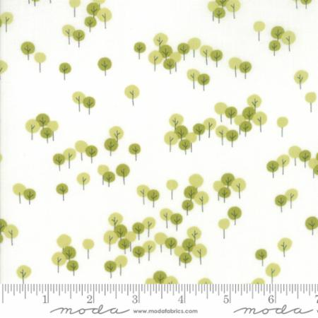 Woodland Secrets Cloud Sprig - View White - Moda
