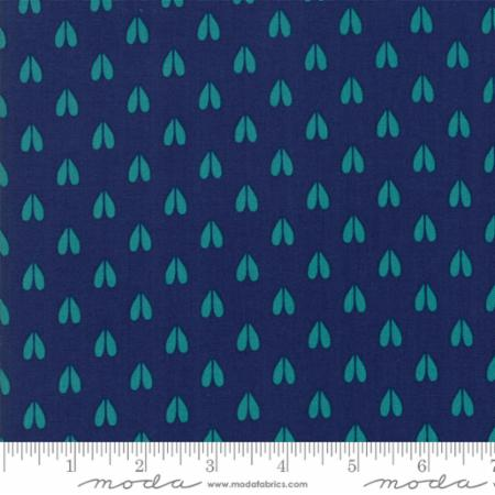 Woodland Secrets Nightfall - Doe a Deer Dark Blue - Moda