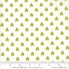 Woodland Secrets Cloud Sprig - Doe a Deer Light Green - Moda