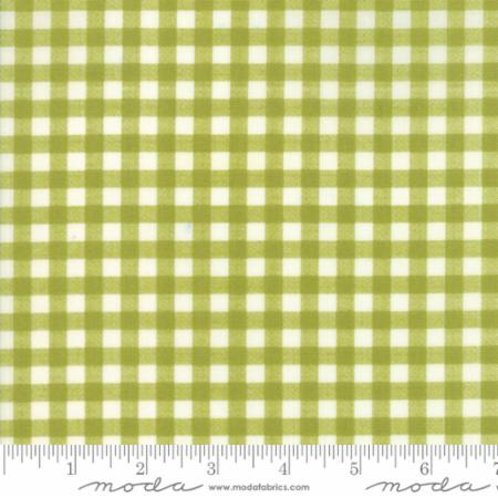 Woodland Secrets Sprig - Plaid Light Green - Moda