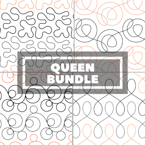 Tear Away Designs Starter Bundle (Four Queen Size Quilts)