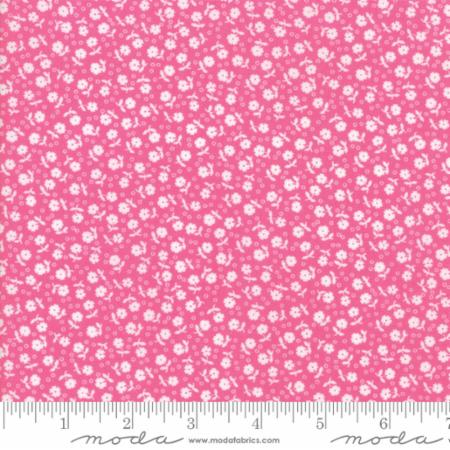 Guest Room Raspberry Flowers and Dots for Moda Fabrics