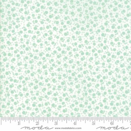 Guest Room Grass Floral Flowers Dots Light Green for Moda Fabrics
