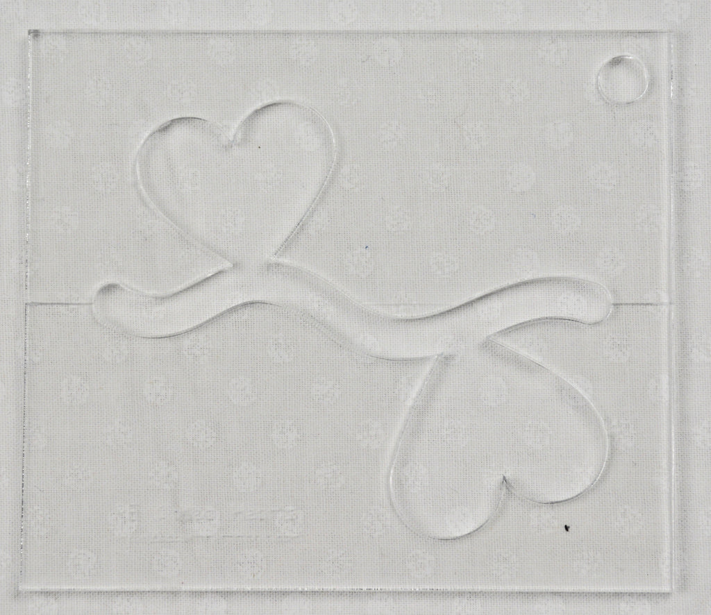 Mini Closed Hearts Domestic Quilting Template For 1 4 Inch Foot