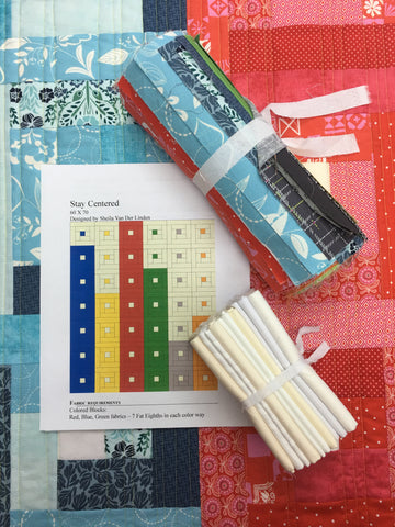 Stay Centered Quilt Kit as featured in Stash Busters Series