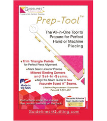 Quilt Ruler Upgrade Kit + Quilt Ruler Connecter + Prep Tool + Seam Guide