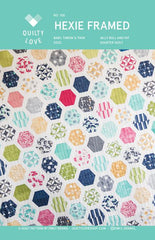 Hexie Framed Quilt Pattern - By Emily Dennis of Quilty Love
