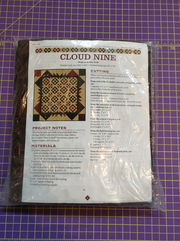 Bradie's De-Stash: Cloud Nine quilt kit by Kim Diehl