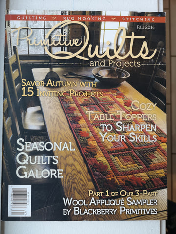 Bradie's De-Stash: Primitive Quilts and Projects magazine Fall 2016