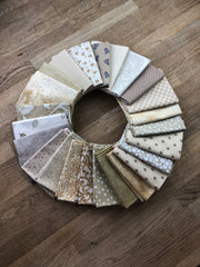 25 Shades of Beige Fat Quarter Bundle