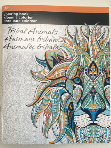 Tribal Animals: Art Zone Coloring Book