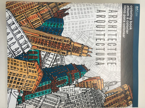 Architecture: Art Zone Coloring Book