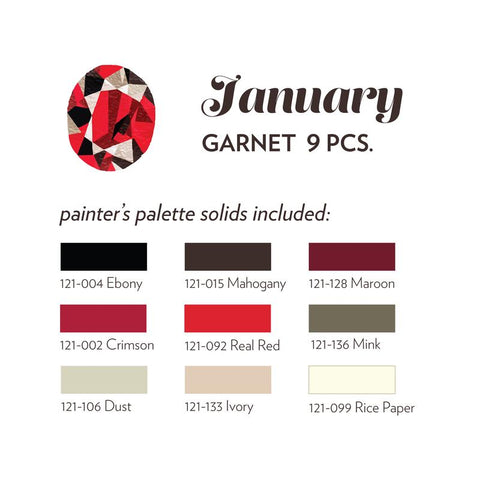 JANUARY BIRTHSTONE FABRIC BUNDLE - GARNET