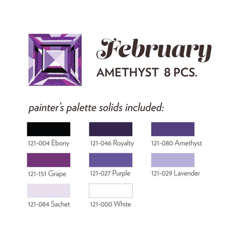 FEBRUARY BIRTHSTONE FABRIC BUNDLE - AMETHYST