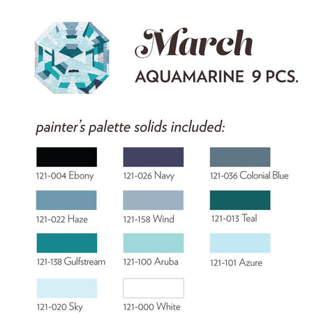 MARCH BIRTHSTONE FABRIC BUNDLE - AQUAMARINE