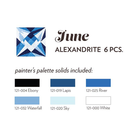 JUNE BIRTHSTONE FABRIC BUNDLE - ALEXANDRITE