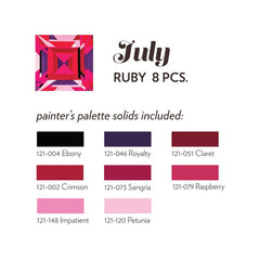 JULY BIRTHSTONE FABRIC BUNDLE - RUBY