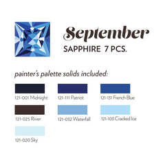 SEPTEMBER BIRTHSTONE FABRIC BUNDLE - SAPPHIRE