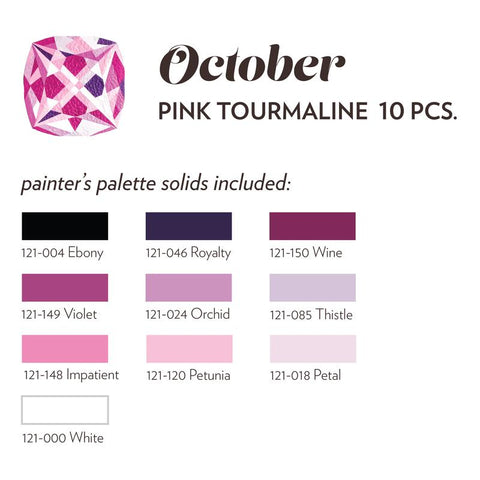 OCTOBER BIRTHSTONE FABRIC BUNDLE - PINK TOURMALINE