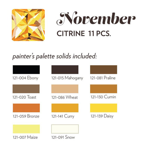 NOVEMBER BIRTHSTONE FABRIC BUNDLE - CITRINE