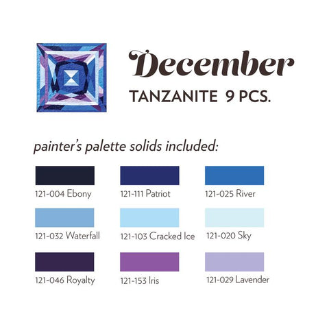 DECEMBER BIRTHSTONE FABRIC BUNDLE - TANZANITE