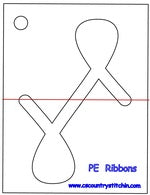 Ribbons Domestic Quilting Ruler Template - 1/2 inch Foot