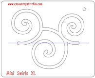 Swirls XL Domestic Quilting Ruler Template - 1/4 inch Foot